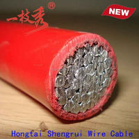 Single core red color power cord,wires and cables