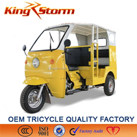 Chongqing Petrol Powered Rickshaw Tricycle with Canopy for Adult/Piaggio Three Wheeler Price