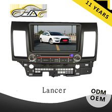 For mitsubishi lancer car monitor with gps system with Rear view camera for free