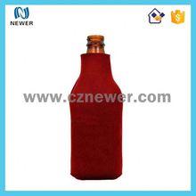 Wholesale cheap red neoprene bottle cooler sleeve for bar