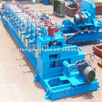 Popular type color steel C and U purline roll forming machine
