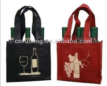6 pack non woven wine bag