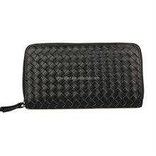 Knitted Leather clutch bag for men