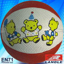 good new official size new style rubber made Official Size 6 rubber basketball
