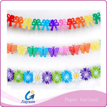 Colorful decoration paper party garland flwer garland string