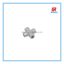 stainless steel 316L cross female NPT connection fitting