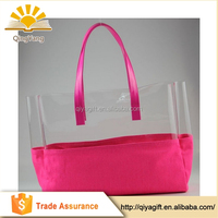 wholesale custom waterproof promotional pvc tote shoping bag