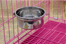 pet products stainless steel dog bowl Waterers/comederos dog feeders stainless steel double wall bowl