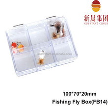 100*70*20 white color 6 dividers small clear plastic tackle box