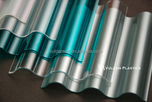 Optical Grade UV coated Extruded Plastic Polycarbonate Corrugated Clear Sheet (Valuview clear MINI)