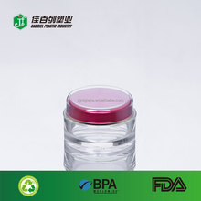 cream packing high quality ps materila bulk plastic red cap double wall make-up jar