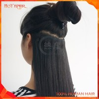 Hot Sale Natural Black Hair Care Products Wholesale Indian Black Clip In Hair Care Products Wholesale