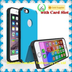 Mobile Phone Case For Iphone 6 tpu pc Case,Shockproof For Iphone 6 kickstand Case