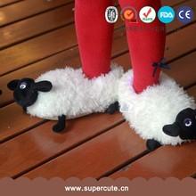Cute adorable oveja forma diseño caliente niños zapatillas