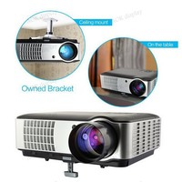 LCD HD Home Cinema Theater Video Projector Support 1080p 3D Multimedia HDMI Portable High Definition Widescreen HDMI