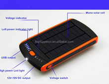 23000mAh full capacity solar charger for laptop/mobile phone/tablet
