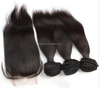 Straight/body wave free part/ two part/ three part cheap human hair lace closure