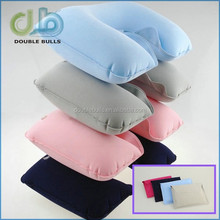 Custom wholesale cheapest candy color pillow , Airplanes Camping pillow , Advertising inflatable travel neck pillow