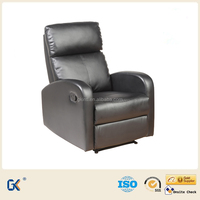 Manual recliner PU leather single chair sofa bed