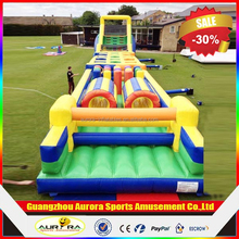 Best popuar adult inflatable obstacle course with factory lower price