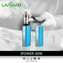Laisimo 60w Temperature control function box mod with US made chip support 0.2ohm 2pcs 18650 65 w box mod