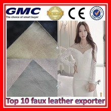 Custom grain pvc artificial leather for shoe and bag