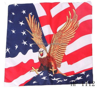 multipurpose triangle headwear fashionable kerchief the Stars and Stripes flag American National Flag design bandana