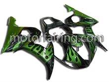 For yzf r6 03 05 good Quality ASB Motorcycle bodykits/Fairing Kit/bodywork green/black