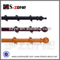 Painted solid wood 35mm wooden curtain poles