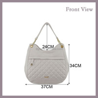 2015 Fashion OEM Bag for Ladies PU Hobo Bag with Outside Zipper Pocket
