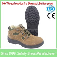 SF1802 Cow suede leather steel toe cap acid resistant safety shoes