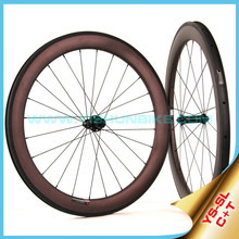 2015 YISHUNBIKE New Super Light 60mm Cycling Carbon Road Bke Clincher Wheels Sale SL60C (C+T)
