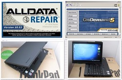 2015 latest version alldata 10.53 and mitchell on demand auto repair software installed well in x200t laptop ready to use