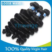 Free shipping peruvian virgin hair loose wave 3pcs lot model model hair extension wholesale