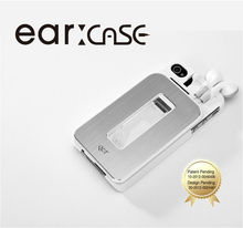Mobile phone case for iPhone 4/4s with earphone string storage