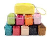 Ladies pu leather clutch bag wristlet bag clutch for women wholesale