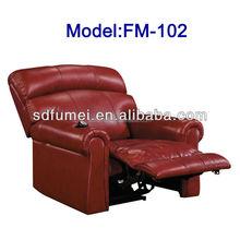 FM-102 Modern recliner home cinema leather sofa for sale