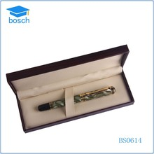 Classic dark green metal pen gift set,box gift pen