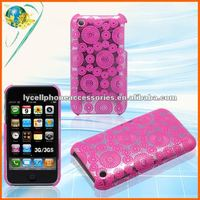 For iphone 3G 3GS Rear case mobile phone glitter hard back cover