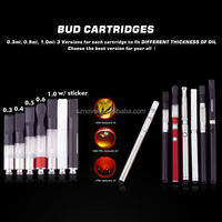 2014 hot selling China electronic cigarette 510 bud CBD ceramic ego t twist atomizer replacement glass globes