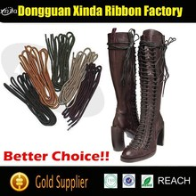 3mm round shoe laces waxed boot laces
