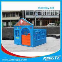 outdoor plastic story play house for kids Kids Children indoor Blue plastic small Play house children garden