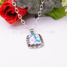 2015 New Arrival Resin Fashion Colorful Cute Charm Gem Flower Necklaces & Pendants Fashion Jewelry Woman Gift Summer style