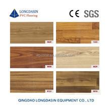 Wood design for indoor Vinyl sheet sports flooring