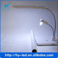 2 in 1 mini desk fan table fan ,mini usb table fan and light ,small usb desk fan and lamp CE RoHS HY-8736