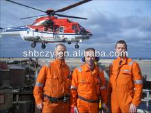 100%Cotton Orange Reflective flight pilot coveralls