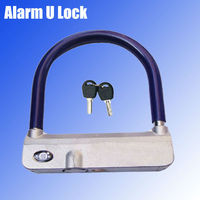 New alarm motorcycle steering lock