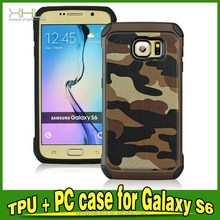 Shockproof Heavy Hybrid case+belt clip for Samsung Galaxy s6 camouflage