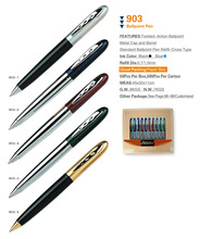 Latest popular twist-action metal multi-function ball point pen 903