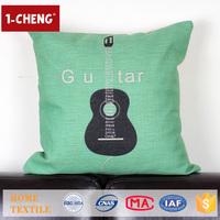 Trade Assurance Creative Guitar Printed Design Custom Cushion Home Decor Pillow Case Hospital Pillow